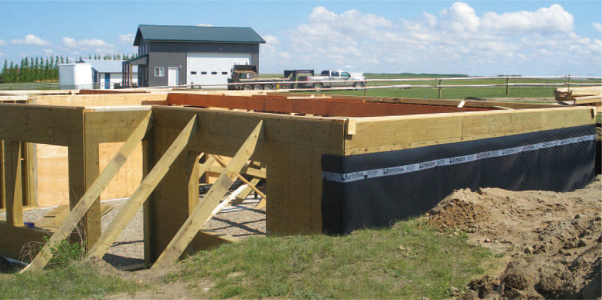 Wood Foundation Under Construction